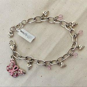 Brighton Jewelry - NWT💋 Breast Cancer Charm Bracelet Keyring Set
